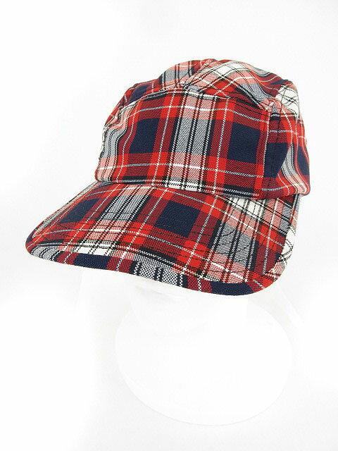 ニューヨークハット NEW YORK HAT キャップ 野球帽 チェック ONE 赤 レッド 青 ブルー 白 ホワイト /yo メンズ 【中古】【ベクトル 古着】 180718 ブランド古着ベクトルプレミアム店