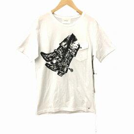 【中古】ザレターズ The Letters Tシャツ 半袖 ラウンドネック M 白 ホワイト メンズ 【ベクトル 古着】 190318 ブランド古着ベクトルプレミアム店