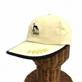 【中古】 アダバット adabat キャップ ゴルフ 0 ベージュ KO メンズ 【ベクトル 古着】 190409