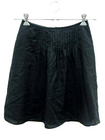 【中古】ナチュラルビューティーベーシック NATURAL BEAUTY BASIC スカート フレア ミニ XS 黒 ブラック /YI レディース 【ベクトル 古着】 190323 ブランド古着ベクトルプレミアム店
