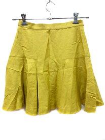 【中古】 アナディス dun a dix スカート フレア ミニ 麻混 リネン混 38 緑 グリーン /AU レディース 【ベクトル 古着】 190411