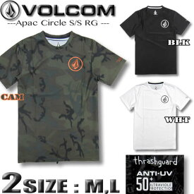 VOLCOM ボルコム メンズ ラッシュガード 半袖Tシャツスタイル 水着 サーフT UPF50+ JAPAN LIMITED 【メール便対応】【あす楽対応】 N01119G0