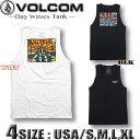ボルコム タンクトップ Tシャツ メンズ VOLCOM USA企画 バックプリント サーフブランド スノボ スケボー 【あす楽対応】ブラック 黒 ホワイト 白 A4512002