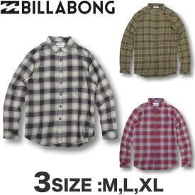 ビラボン BILLABONG メンズ ライト ネルシャツ チェック柄 サーフブランド アウトレット SALE セール【あす楽対応】AH012-102