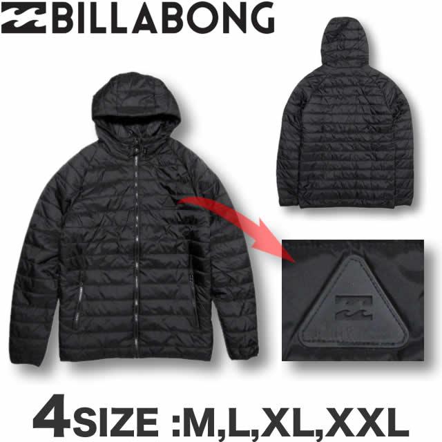 ビラボン BILLABONG メンズ パーカー ダウンスタイル 中綿 ナイロンジャケット アウター Mサイズ〜XXLサイズ 大きいサイズ サーフブランド アウトレット SALE セール 【あす楽対応】AH012-756