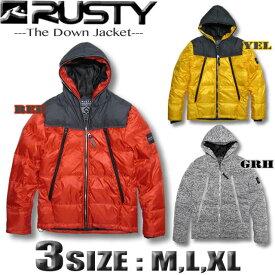 RUSTY ラスティー メンズ ダウンジャケット アウター ルミナージッパー サーフブランド SALE セール【あす楽対応】 928202