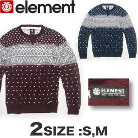 【30%OFF!!】ELEMENT エレメント メンズ ジャカード ニット セーター AF022-600