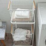 ランドリーバスケットLサイズホワイト02810洗濯もの収納トスカtosca【山崎実業/YAMAZAKI】