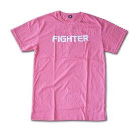 【送料無料】FIGHTER Tシャツ ピンク FIGHTER ファイター M/L/XLサイズ PINK 格闘技 キックボクシング ムエタイ メンズ コットン
