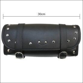 バイク汎用ツールバッグ アメリカンツールバッグ ツールポーチ スタッズ付 A01黒