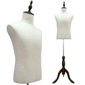 紳士 トルソー 男性 マネキン メンズ ボディー麻/リネンor黒 木製 猫脚 アンティーク