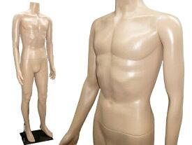 紳士マネキン 軽量メンズ ヘッドレスマネキン 男性 肌色(2)