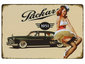 同梱可 ブリキ看板 ブリキプレート 30cm×20cm(28) 1951 クラッシックカー