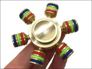 メール便送料無料 ハンドスピナー 指スピナー 六角ゴールド 六芒星 Hand spinner ハンド フィジェット ボールベアリング(A)