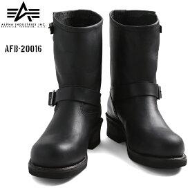 店内20%OFF◆ALPHA INDUSTRIES アルファインダストリーズ AFB-20016 エンジニアブーツ BLACK ブラック WIP メンズ ミリタリー アウトドア ブランド【海も山も!レジャーシーズン到来】