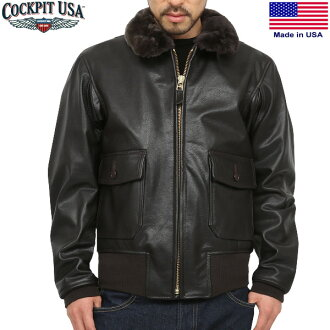 Cockpit USA cockpit U. S. Navy Issue Mil Spec g-1 leather flight jacket BROWN WIP