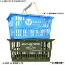 クーポンで今なら10%OFF対象◆新品 U.S MILITARY マーケットバスケット 2色 ミリタリーテイスト溢れる プリント デザインのマーケットバスケット...
