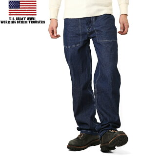 New us U.S ARMY WORKING DENIM pants one wash reproduction military work pants work pants jeans mss WIP mens