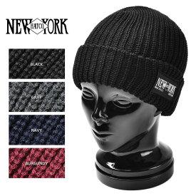 店内20%OFF◆New York Hat ニューヨークハット 4581 CHUNKY CUFF ニットキャップ New York Hatパッチ 4色 WIP メンズ ミリタリー アウトドア【海も山も!レジャーシーズン到来】