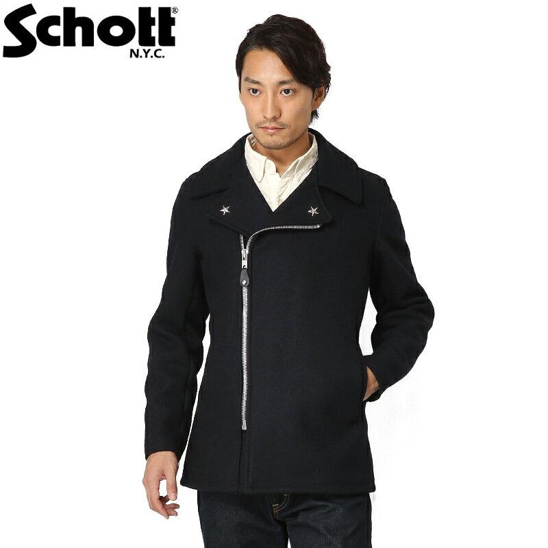 Schott ショット 779 ウール ジップ ピーコート 7505 WIP メンズ ミリタリー アウトドア ブランド【新生活 新学期 買い替えに】【クーポン対象外】