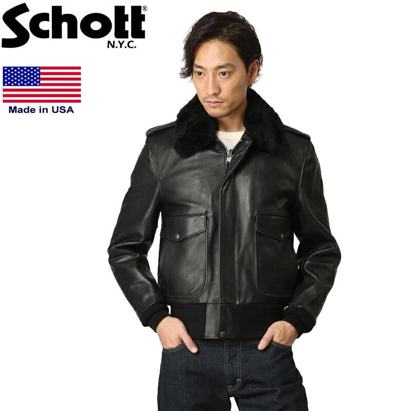 Schott ショット 174US A-2 レザー ボンバージャケット 7010 本革 WIP メンズ ミリタリー アウトドア ブランド 革ジャン レザージャケット ライダースジャケット【新生活 新学期 買い替えに】【クーポン対象外】