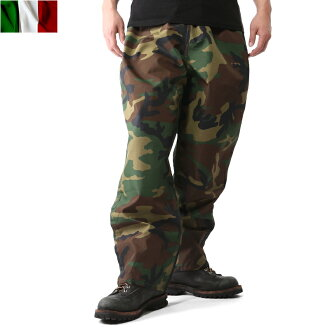 Real Italy army waterproof pants woodland camouflage men's military pants skirts over pants waterproof waterproof windproof breathable camouflage Camo jacket outdoor Italian troops Italy army mss WIP