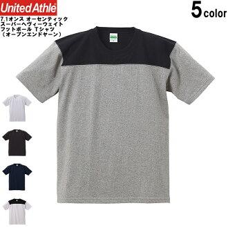 联合的军训军训 7.1 盎司正宗 superhevirwaite 足球 T 衬衫 (开放式纱) 男式上衣 T 恤足球老式规格运动休闲 WIP