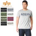 今だけ10%OFF◆ALPHA アルファ TC1126 S/S プリント Tシャツ ALPHA LOGO 父の日 ギフト プレゼント