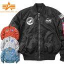 店内20%OFF◆ALPHA アルファ TA0167 NASA 100th MISSION MA-1フライトジャケット ワッペン アウター WIP メンズ ミリタリー ブランド【クリスマス プレゼント ギフト】