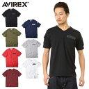 店内20%OFF開催中◆AVIREX アビレックス 6143386 FATIGUE VネックTシャツ