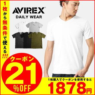 AVIREX avirex T 衬衫 V 脖子每天每天穿了 avirex avirexl 短袖 avirex AVIREX 男装 T 恤 AVIREX avirex 10P09Jan16