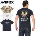 AVIREX アビレックス 6173364 U.S.A.A.C アップリケ クルーネック Tシャツ