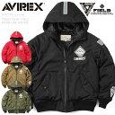 AVIREX アビレックス STREET GEAR / FIELD 6182183 ウォーム ラインド フーディー MA-...