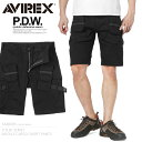 AVIREX アビレックス 6686005 P.D.W. バックル カーゴ ショートパンツ 父の日 ギフト プレゼント
