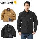【10%OFFクーポン対象】Carhartt カーハート 103825 DUCK CHORE COAT チョアコート / カバーオール ワークジャケット シャツジャケット タフ ブルゾン WIP メン