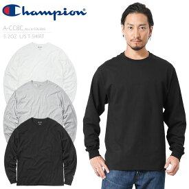 Champion チャンピオン A-CC8C 5.2OZ ロングスリーブ Tシャツ【バレンタイン プレゼント ギフト】