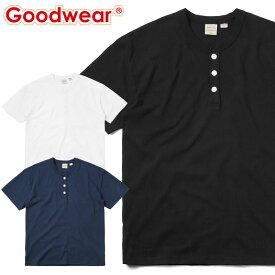 【18%OFFクーポン対象】【あす楽】Tシャツ メンズ Goodwear グッドウェア 2W7-2522 USAコットン ヘンリーネック Tシャツ / 半袖 ポケTシャツ 無地T ミリタリー WIP メンズ ミリタリー ミリタリーシャツ アウトドアブランド