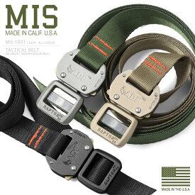 MIS エムアイエス MIS-1031 NYLON WEBBING タクティカルベルト MADE IN USA(クーポン対象外)【海も山も!レジャーシーズン到来】