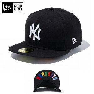 クーポンで最大15%OFF!【メーカー取次】NEW ERA ニューエラ 59FIFTY UNDERVISOR ニューヨーク・ヤンキース ブラック×ホワイト/マルチカラー BROOKLYN 12336655 キャップ / 帽子 キャップ シリーズ メジャ