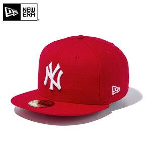 今なら10%OFF☆【メーカー取次】NEW ERA ニューエラ 59FIFTY MLB ニューヨーク・ヤンキース スカーレットXホワイト 12336658 キャップ / 帽子 キャップ ハット シリーズ 大リーグ メジャーリーグ 野