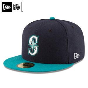 今なら10%OFF☆【メーカー取次】NEW ERA ニューエラ 59FIFTY MLB On-Field シアトル・マリナーズ ネイビーXターコイズ 11449342 キャップ / 帽子 キャップ ハット シリーズ 大リーグ メジャーリーグ 野球