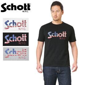Schott ショット 3193060 US FLAG LOGO Tシャツ WIP メンズ ミリタリー アウトドア 【クーポン対象外】 ブランド【父の日ギフト プレゼントに】 ミリタリーシャツ