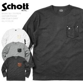 Schott ショット 3173078 LEATHER POCKET ONE STAR Tシャツ WIP メンズ ミリタリー アウトドア ブランド【クーポン対象外】 ミリタリーシャツ【ハロウィン 仮装 コスプレ レジャー】 キャッシュレス 5%還元