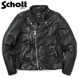 Schott ショット 3181067 ダブル ブレスト ライダースジャケット ブランド 革ジャン レザージャケット WIP メンズ ミリタリー アウトドア【クーポン対象外】【海も山も!レジャーシーズン到来】