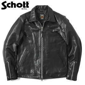 Schott ショット 3181076 シングルブレスト / レザージャケット ライダースジャケット シングルライダース ブルゾン 本革 WIP メンズ ミリタリー アウトドア【クーポン対象外】【海も山も!レジャーシーズン到来】