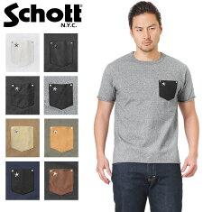 Schottショット3163030ディアスキンレザーポケットTシャツONESTAR【クーポン対象外】