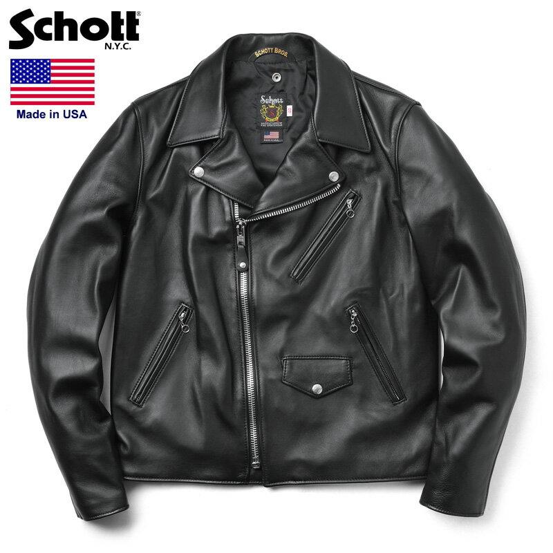 Schott ショット 228US ラムレザー ライダースジャケット【7525】 WIP メンズ ミリタリー アウトドア 【Sx】 ブランド 革ジャン レザージャケット【新生活 新学期 買い替えに】
