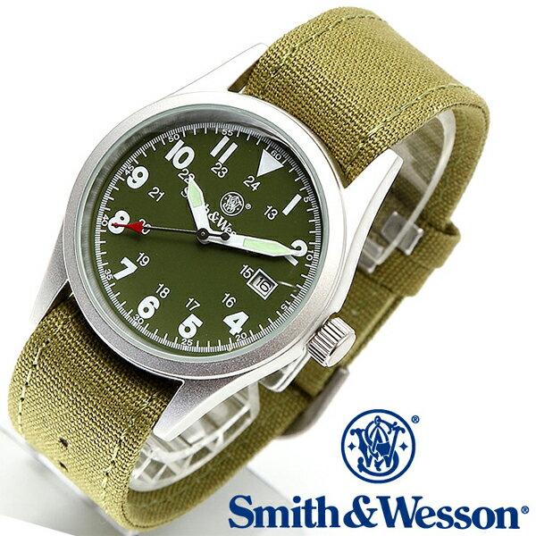 【クーポン対象外】 Smith & Wesson スミス&ウェッソン MILITARY WATCH 腕時計 OLIVE DRAB SWW-1464-OD メンズ ミリタリー アウトドア WIP-1 ギフト プレゼント 新生活 決算