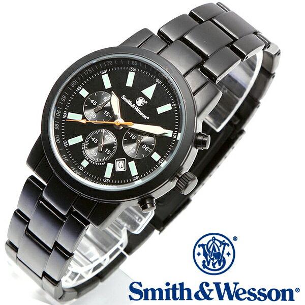 【クーポン対象外】 Smith & Wesson スミス&ウェッソン PILOT WATCH 腕時計 CHRONOGRAPH BLACK SWW-169 メンズ ミリタリー アウトドア WIP-1 ギフト プレゼント 新生活 決算