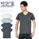 店内20%OFF開催中◆Velva Sheen ベルバシーン 161365 PIGMENT S/S Vネック ポケットTシャツ MADE IN USA